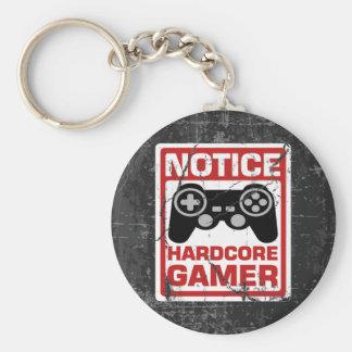 Porte-clés Enseigne inconditionnelle d'avis de Gamer