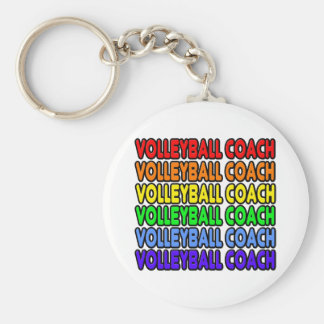 Porte-clés Entraîneur de volleyball d'arc-en-ciel