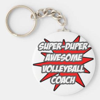 Porte-clés Entraîneur impressionnant superbe de volleyball de