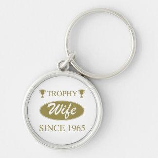 Porte-clés Épouse de trophée depuis 1965