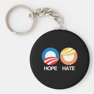 Porte-clés ESPOIR (Obama) contre la HAINE (atout)