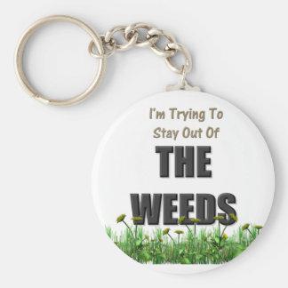 Porte-clés Essai de rester hors des mauvaises herbes