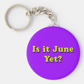 Porte-clés Est-ce juin ? Porte - clé (jaune)