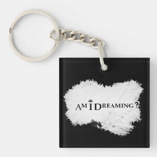 Porte-clés Est-ce que je rêve ? Noir double face de porte -