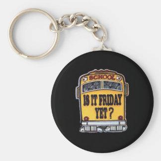 Porte-clés Est-ce vendredi encore ? Autobus scolaire