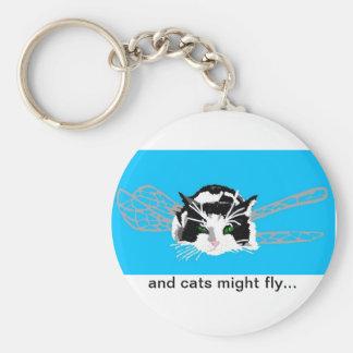 Porte-clés et les chats pourraient voler… Porte - clé