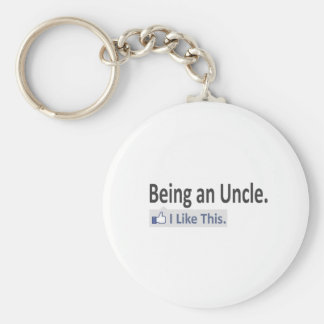 Porte-clés Étant un oncle… j'aime ceci