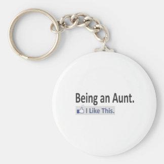 Porte-clés Étant une tante… j'aime ceci