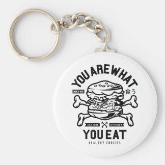 Porte-clés Êtes vous ce que vous mangez