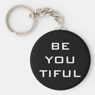 Porte-clés Êtes vous Tiful simple