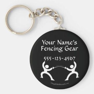 Porte-clés Étiquette de clôture personnalisable de sac -