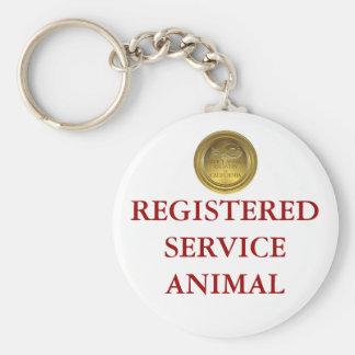 Porte-clés Étiquette enregistrée d'animal de service