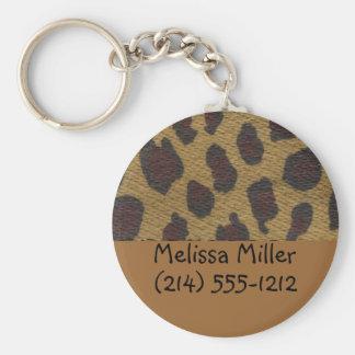 Porte-clés Étiquettes d'identification de bagages de fourrure