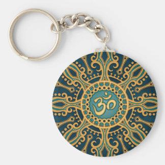 Porte-clés Étoile bleue d'or d'Aum