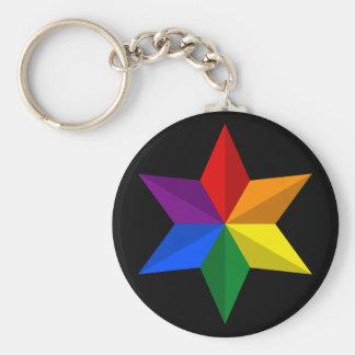 Porte-clés Étoile de gay pride