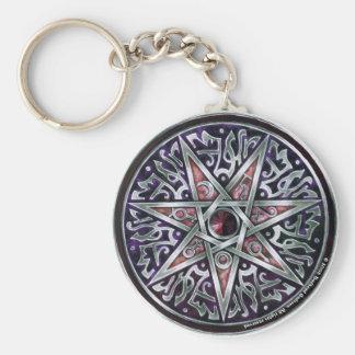 Porte-clés Étoile de porte - clé rond féerique
