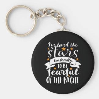 Porte-clés Étoile inspirée d'amour de geek de l'espace de