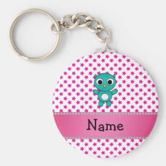 Porte-clés Étoiles nommées personnalisées de rose de hibou de