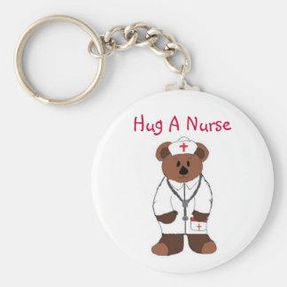 Porte-clés Étreignez une infirmière