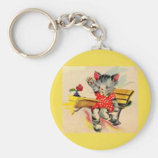 Porte-clés étudiant de chat de chaton