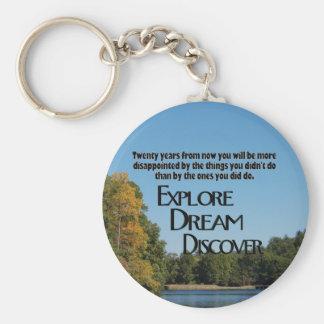 Porte-clés Explorez, rêvez et découvrez le porte - clé