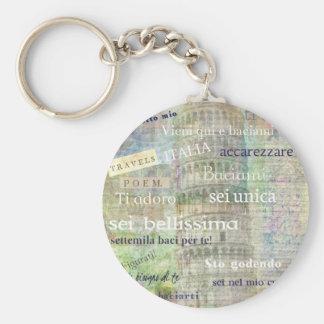 Porte-clés Expressions et mots italiens romantiques