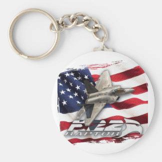 Porte-clés F-22 Raptor et drapeau américain