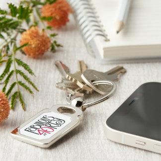Porte-clés Fabuleux au porte - clé rouge noir en métal 40rty
