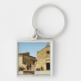Porte-clés Façade d'une église, église romane, Piazza