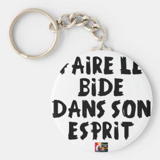 Porte-clés Faire le BIDE dans son ESPRIT - Jeux de Mots