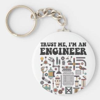 Porte-clés Faites- confiancemoi, je suis un ingénieur