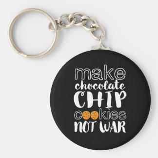 Porte-clés Faites la paix du monde de guerre de gâteaux aux