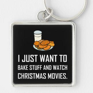 Porte-clés Faites les films cuire au four de Noël de montre