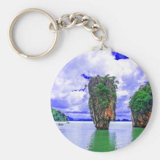 Porte-clés Falaises tropicales d'île de forêt tropicale