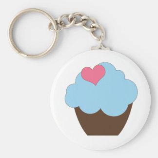 Porte-clés Faveur bleue de porte - clé de petit gâteau