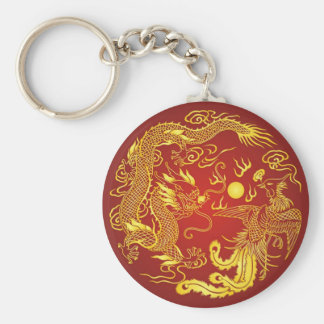 Porte-clés Faveur chinoise de mariage de Phoenix de dragon