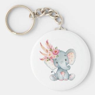 Porte-clés Faveurs florales d'anniversaire de porte - clé de
