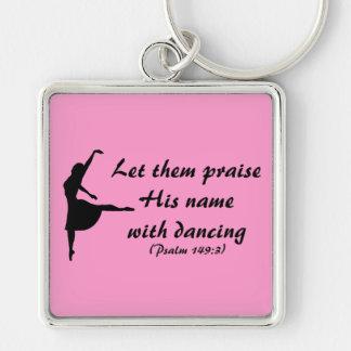 Porte-clés Félicitez-le avec le porte - clé de danse