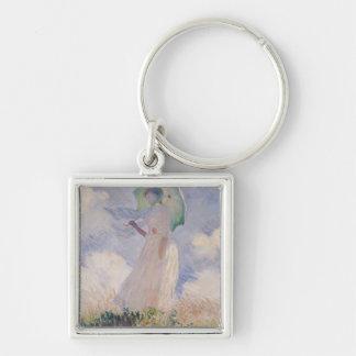 Porte-clés Femme de Claude Monet | avec le parasol tourné