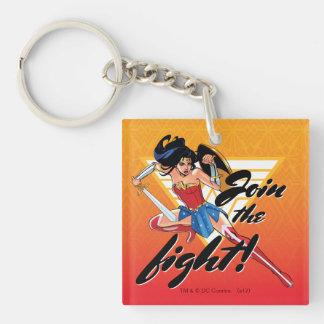 Porte-clés Femme de merveille avec l'épée - joignez le combat