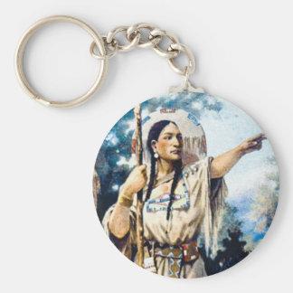 Porte-clés femme indienne de squaw