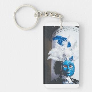 Porte-clés Femme masquée par bleu dans le carnaval de Venise