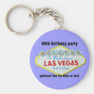 Porte-clés Fête d'anniversaire faite sur commande de Las