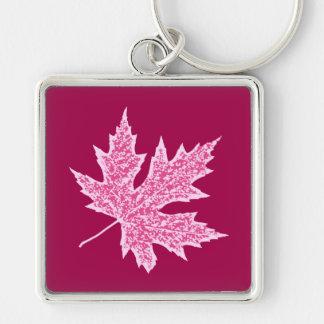 Porte-clés Feuille de chêne - vin et rose de Bourgogne