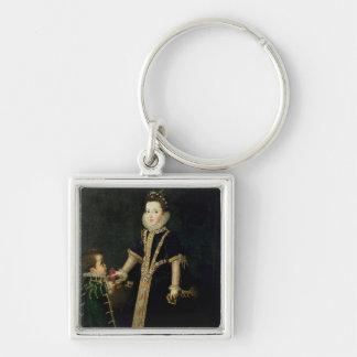 Porte-clés Fille avec un nain, vraisemblablement un portrait