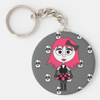 Porte-clés Fille de Goth de bande dessinée et porte - clé