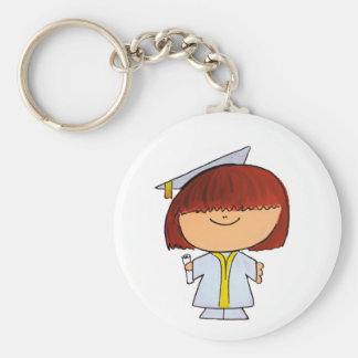 Porte-clés Fille d'obtention du diplôme