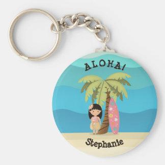 Porte-clés Fille hawaïenne de surfer