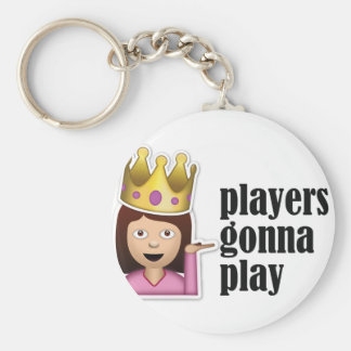 Porte-clés Fille impertinente Emoji - joueurs allant jouer
