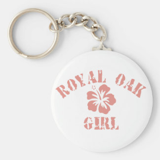 Porte-clés Fille royale de rose de chêne
